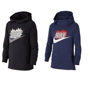 NEW Boys Nike Swoosh Pull-Over Hoodie size M, L